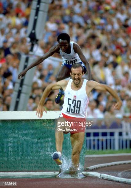 Bronislaw Malinowski of Poland in action during the Mens 3000 metres Steeplechase event of the 1980 Olympic Games at the Lenin Stadium in Moscow USSR...