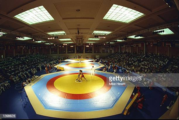 General view of the Wrestling Venue at the 1992 Olympic Games in Barcelona, Spain. \ Mandatory Credit: Mike Hewitt/Allsport