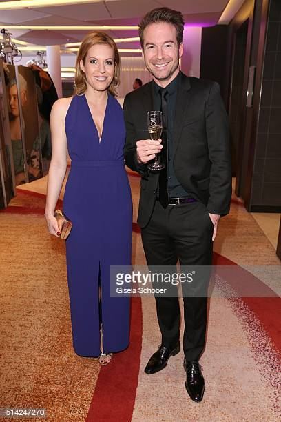 Jule Goelsdorf and Sebastian Hoeffner during the PEOPLE Style Awards at Hotel Vier Jahreszeiten on March 7 2016 in Munich Germany