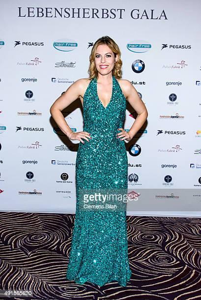 Jule Goelsdorf attends the Lebensherbst charity gala at Waldorf Astoria on October 8 2015 in Berlin Germany