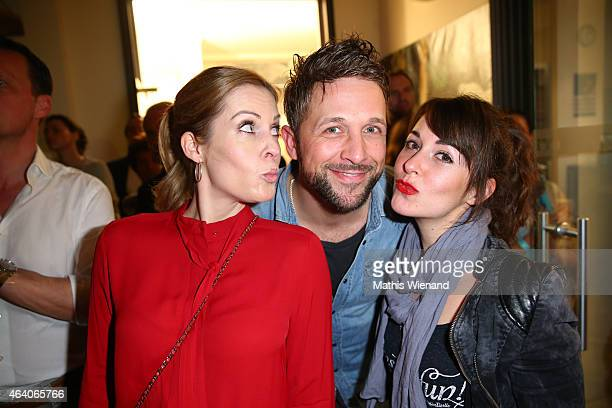 Jule Golsdorf Florian Ambrosius and Renee Weibel attend the Tom Beck Record Release Party at 'die maske' on February 21 2015 in Cologne Germany