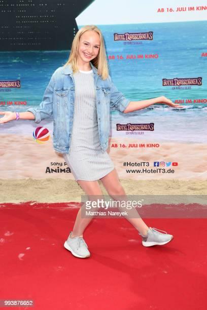 Jule Hermann attends the 'Hotel Transsilvanien 3' premiere at CineStar on July 8 2018 in Berlin Germany
