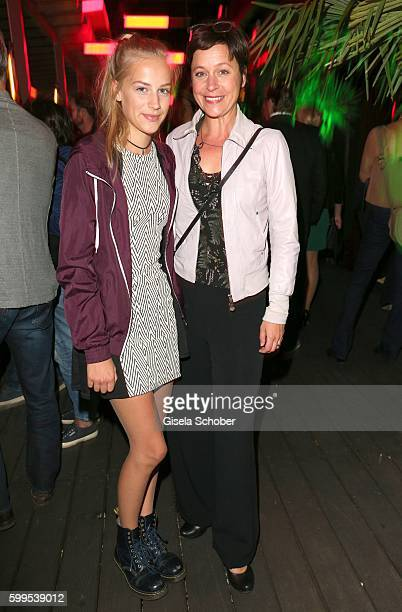 Jule Ronstedt and her daughter Helene during the after party of the premiere for the film 'Maennertag' at Mathaeser Filmpalast on September 5 2016 in...