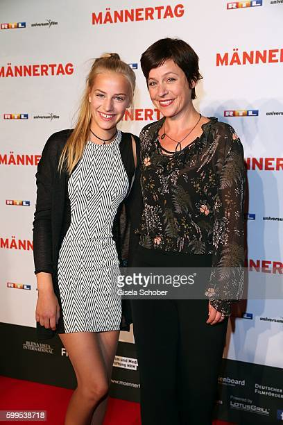 Jule Ronstedt and her daughter Helene during the premiere for the film 'Maennertag' at Mathaeser Filmpalast on September 5 2016 in Munich Germany