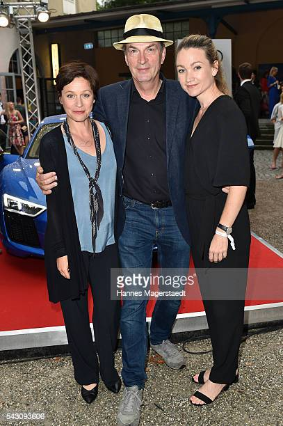 Jule Ronstedt Lisa Maria Potthoff and Herbert Knaup during the Audi Director's Cut during the Munich Film Festival 2016 at Praterinsel on June 25...