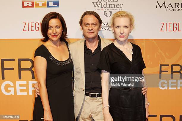 Jule Ronstedt Sylvester Groth Sunnyi Melles attend the 'Frisch Gepresst' Cologne Premiere on August 14 2012 in Cologne Germany
