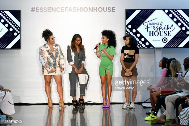 Julee Wilson and MoAna Luu speak at the ESSENCE Fashion House for New York Fashion Week at Affirmation Arts on September 05 2019 in New York City