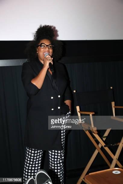 "Julee Wilson speaks onstage at the ""Mixed-ish"" New York Screening at Regal Battery Park Cinemas on September 19, 2019 in New York City."