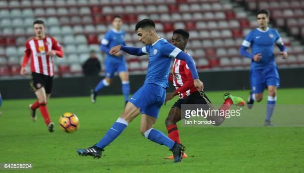 Julen Bernaola of Bilbao during the Premier League International Cup Quarter Final match between Sunderland U23 and Athletic Bilbao U23 at the...