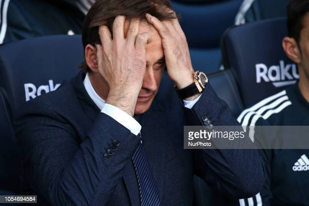 Julen Lopetegui during the match between FC Barcelona and Real Madrid CF corresponding to the week 10 of the Liga Santander played at the Camp Nou on...