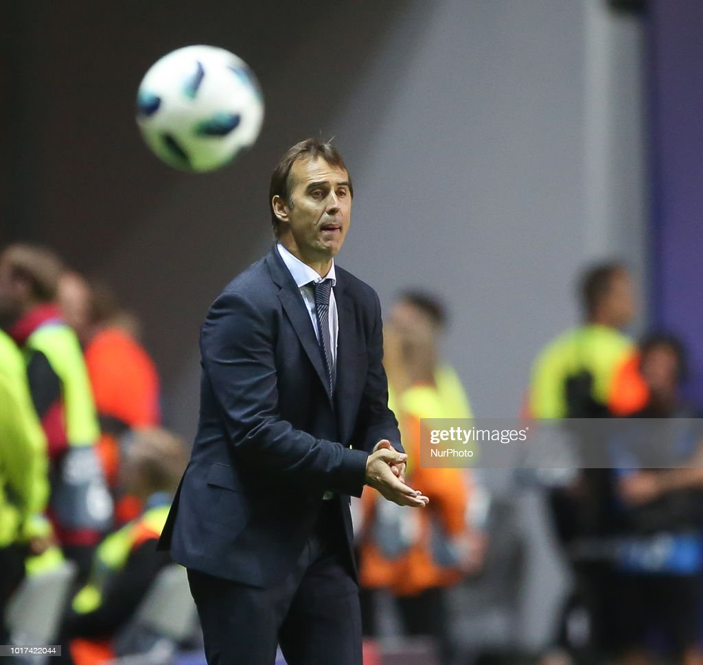 Uefa Super Cup: Julen Lopetegui, Head Coach Of Real Reacts During The UEFA
