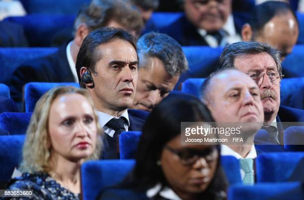 Julen Lopetegui Manager of Spain speaks to the media after the Final Draw for the 2018 FIFA World Cup Russia at the State Kremlin Palace on December...