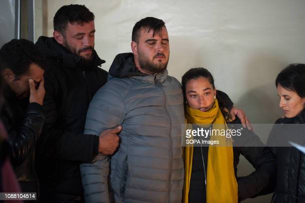 Julen's parents seen being comforted by relatives during a vigil for the 2 year old boy who fell into a well more than 100 meters deep as he enjoyed...