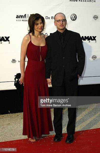 Jules Asner and Steven Soderberg during 2003 Cannes Film Festival Cinema Against Aids 2003 to benefit amfAR sponsored by Miramax Arrivals at Le...