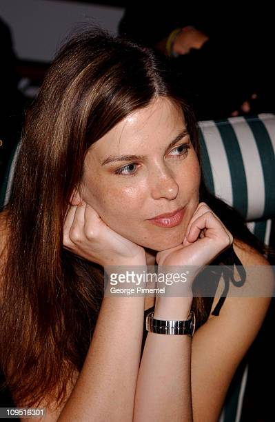 Jules Asner during Cannes 2002 Franchise Pictures Party on The AnheuserBusch Yacht at The AnheuserBusch Yacht in Cannes France