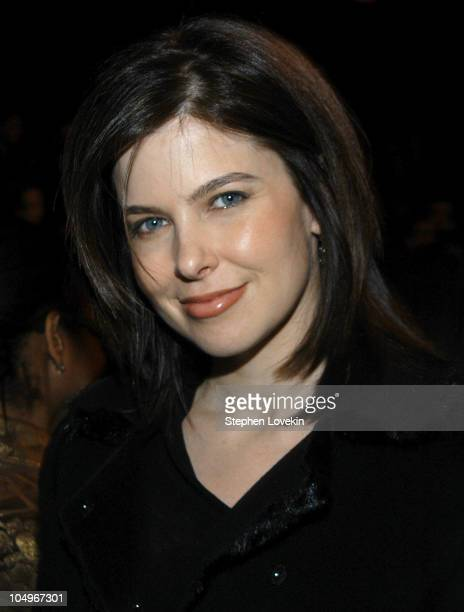 Jules Asner during Olympus Fashion Week Fall 2004 Narciso Rodriguez Front Row at The Tent at Bryant Park in New York City New York United States
