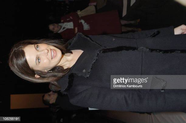 Jules Asner during Olympus Fashion Week Fall 2004 Narciso Rodriguez Front Row and Backstage at The Tent at Bryant Park in New York City New York...