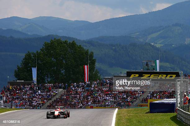 Jules Bianchi of France and Marussia drives during the Austrian Formula One Grand Prix at Red Bull Ring on June 22 2014 in Spielberg Austria