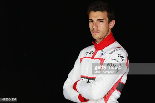 Jules Bianchi of France and Marussia poses for a photograph during day two of Formula One Winter Testing at the Bahrain International Circuit on...