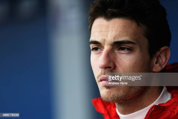 Jules Bianchi of France and Marussia prepares to drive during day four of Formula One Winter Testing at the Circuito de Jerez on January 31 2014 in...