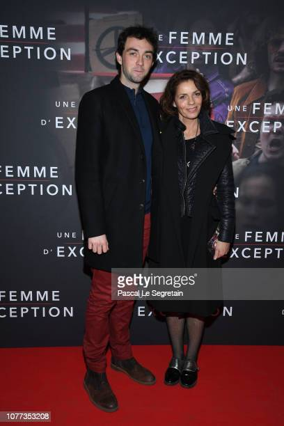 Jules Bourgine and Elizabeth Bourgine attend Une Femme D'Exception On the Basis Of Sex at Cinema Gaumont Capucine on December 04 2018 in Paris France
