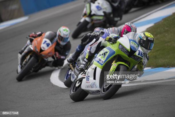 Jules Cluzel of France and CIA Landlord Insurance Honda leads the field during the SuperSport race during the FIM Superbike World Championship - Race...