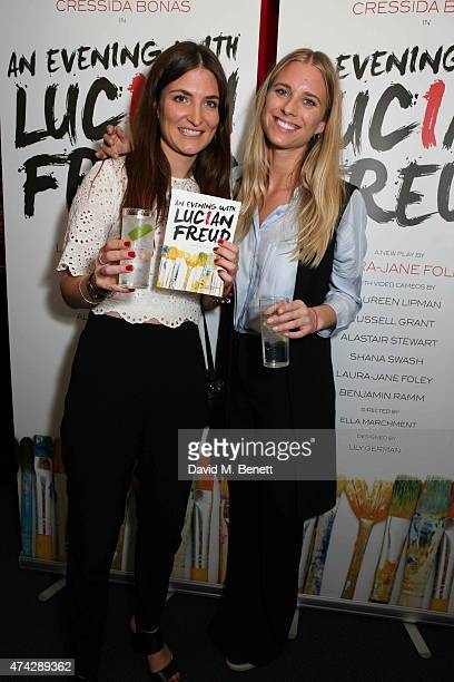 Jules De Boinville and Georgia Forbes attend the press night performance of 'An Evening With Lucian Freud' at the Leicester Square Theatre on May 21...