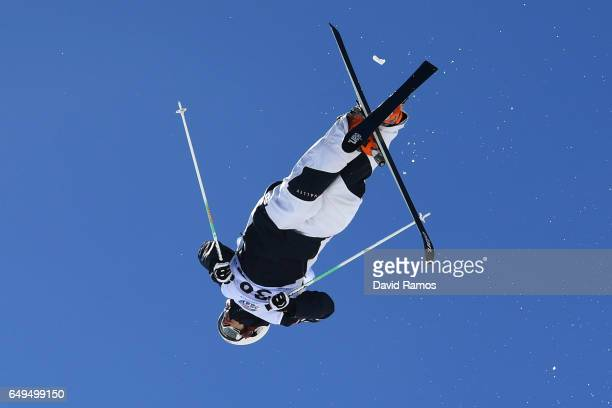 Jules Escobar of France competes in the Men's Moguls qualification on day one of the FIS Freestyle Ski Snowboard World Championships 2017 on March 8...