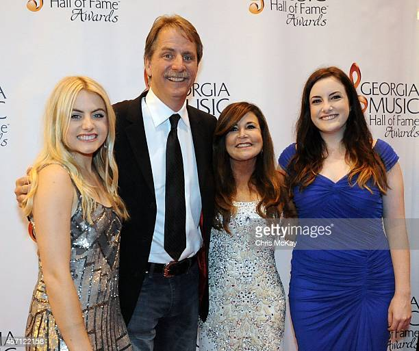 Jules Foxworthy Jeff Foxworthy Pamela Gregg Foxworthy and Jordan Foxworthy attend the 36th annual Georgia Music Hall of Fame Awards at the Georgia...