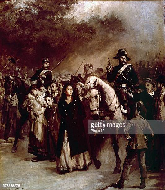Jules Girardet French school The Arrest of Louise Michel on May 24 1871 1883 Oil on panel SaintDenis musee d'art et histoire