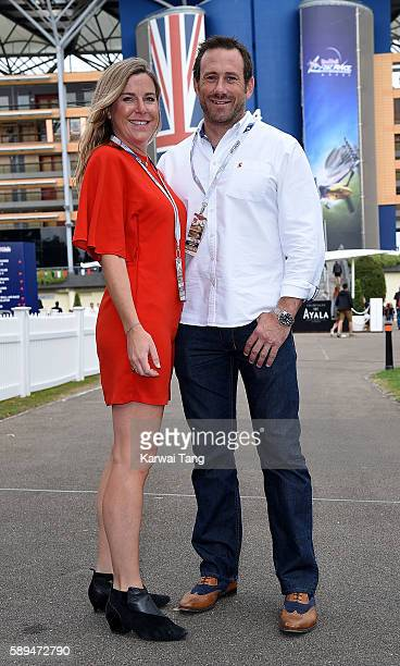 Jules Hawkins and Jason Fox attend the Red Bull Air Race World Championships at Ascot Racecourse on August 14 2016 in Ascot England