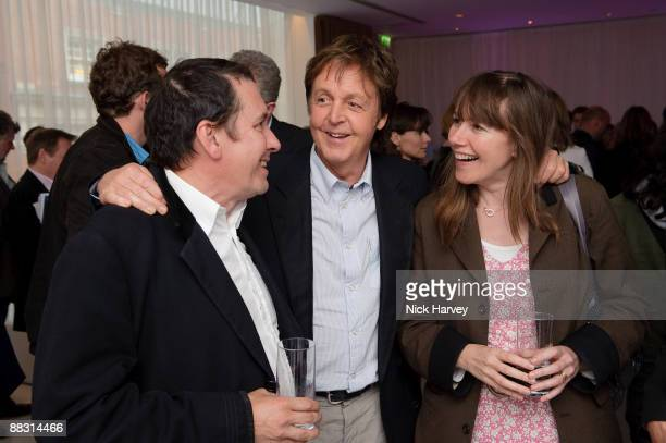 Jules Holland Paul McCartney and Christabel McEwen attend the launch party of publication 'Told The Art Of Story' at St Martins Lane Hotel on June 8...