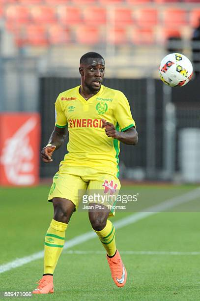 Jules ILOKI of Nantes during the football Ligue 1 match between Dijon FCO and Fc Nantes at Stade Gaston Gerard on August 13 2016 in Dijon France