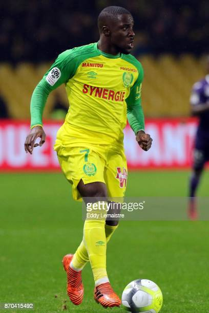 Jules Iloki of Nantes during the Ligue 1 match between Nantes and Toulouse at Stade de la Beaujoire on November 4 2017 in Nantes