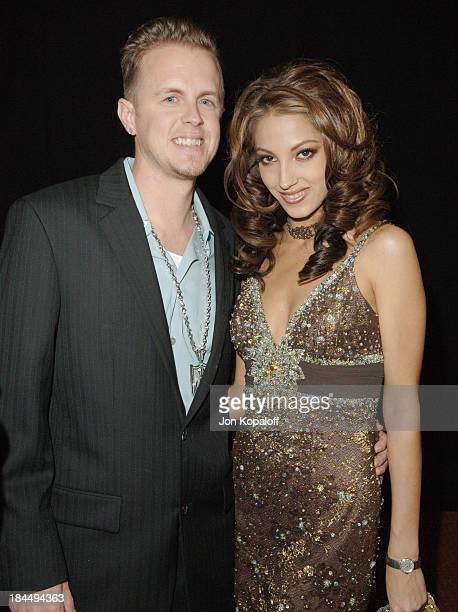 Jules Jordan and Jenna Haze during 2006 AVN Awards Arrivals and Backstage at The Venetian Hotel in Las Vegas Nevada United States