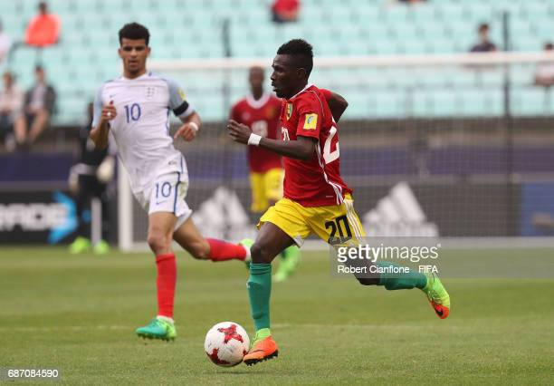 Jules Keita of Guinea runs with the ball during the FIFA U20 World Cup Korea Republic 2017 group A match between England and Guinea at Jeonju World...