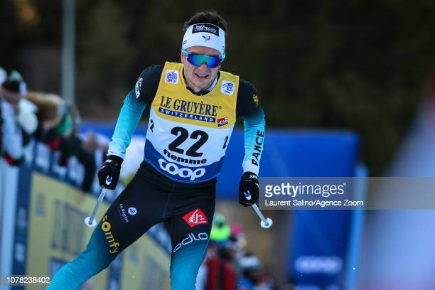Jules Lapierre of France competes during the FIS Nordic World Cup Men's and Women's Cross Country Final Climb on January 6, 2019 in Val Di Fiemme,...