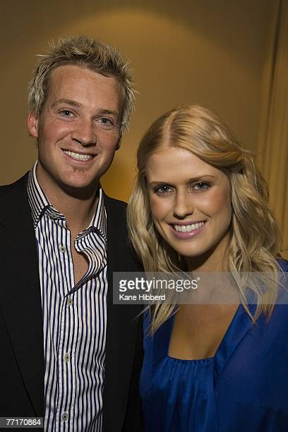 Jules Lund and Georgia Sinclair attend the new musical game show 'The Singing Bee' at Channel Nine on October 3 2007 in Melbourne Australia The new...