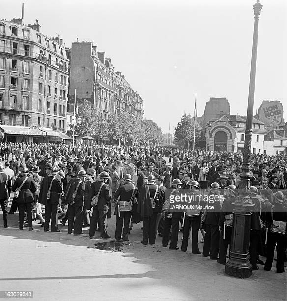 Jules Moch During The Commemorations Of June 18Th 1940 Appeal Demonstrations Of Communist Activists Manif anti Jules Moch