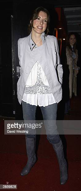 Jules Oliver arrives at Justin Timberlake's party in celebration of the final night of his UK Earl's Court concerts at the Rex Cinema Bar on January...