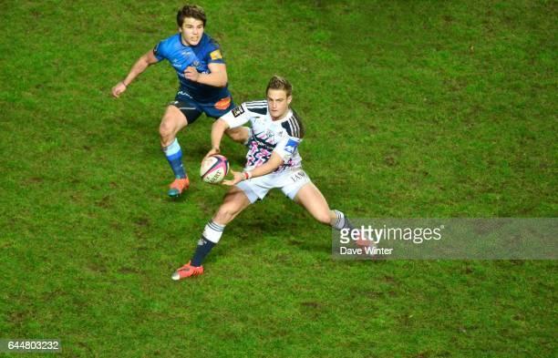 Jules PLISSON / Antoine DUPONT - - Stade Francais / Castres - 16eme journee de Top 14, Photo : Dave Winter / Icon Sport