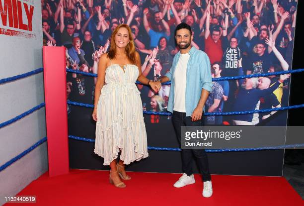 Jules Robinson and Cameron Merchant attend the Sydney premiere screening of Fighting With My Family at Event Cinemas George Street on February 27...