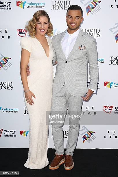 Jules Sebastian and Guy Sebastian arrive at the 27th Annual ARIA Awards 2013 at the Star on December 1 2013 in Sydney Australia
