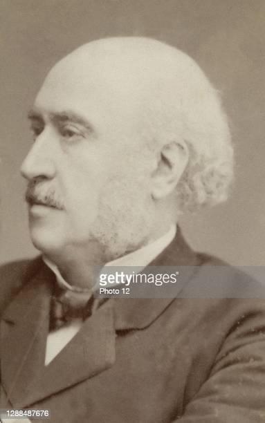 Jules Simon . French statesman and philosopher. Photograph by R. Autin. Cabinet card format. Paris, Fondation Napoleon.