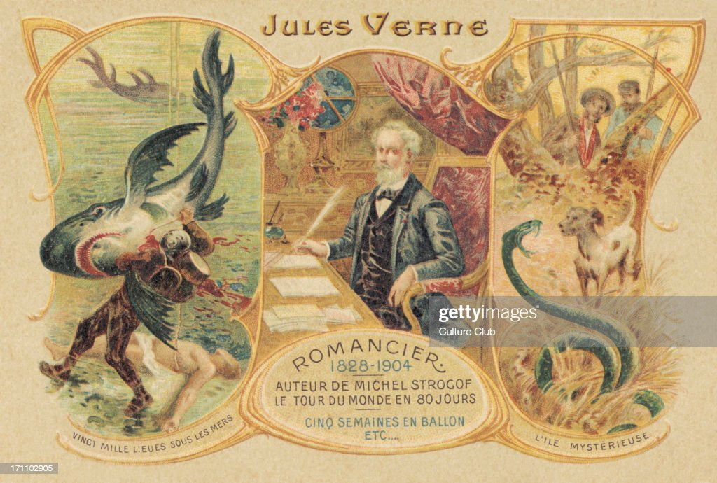 Jules Verne and his famous works - French writer : News Photo