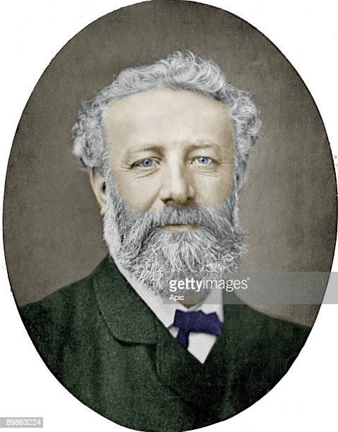Jules Verne French novelist photograph by Nadar colorized picture