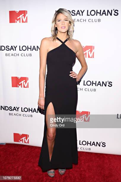 Jules Wilson attends MTV's 'Lindsay Lohan's Beach Club' Premiere Party at Moxy Times Square on January 7 2019 in New York City