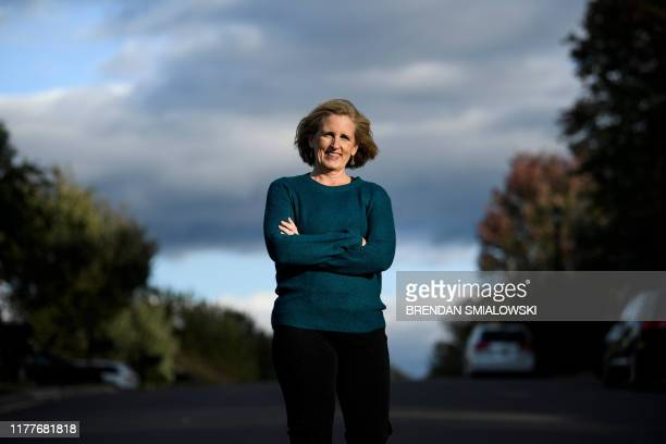 Juli Briskman who was fired after giving US President Donald Trump's motorcade the middle finger while cycling and is running for a seat on the...