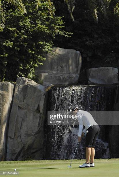 Juli Inkster during the third round of the ADT Championship at the Trump International Golf Club in West Palm Beach Florida on Saturday November 18...