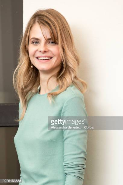 Juli Jakab attends 'Napszallta ' photocall during the 75th Venice Film Festival at Sala Casino on September 3 2018 in Venice Italy